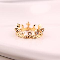 女性の小さなロリ王冠ダイヤモンドリング