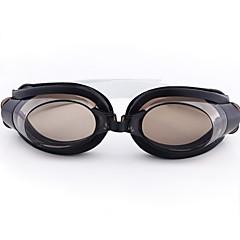 Unisex Silica Gel UV Protective Swimming Goggles - Black