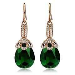 Fashion Crystal Drop Dangle Vintage Øreringe mode smykker forgyldt Brand Green Øreringe til kvinder 2014