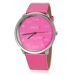 Women's Creative Round Dial Pu Band Quartz Analog Wrist Watch (Assorted Colors) Cool Watches Unique Watches