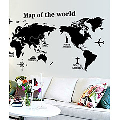 verdenskortet mønster væg sticker (1stk)