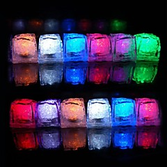 12pcs Color Changing Ice Cubes LED lys Bryllup Fest julen Bar Restaurant