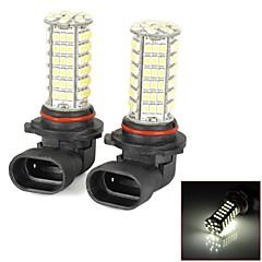 9006  5W 500lm 6000-6500K 102-3528SMD LED White Light Car Car Foglight - (2pcs)