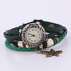 Coway New Women's Round Dial Green Leather  Band Quartz Analog  Braceiet Watch Cool Watches Unique Watches Strap Watch