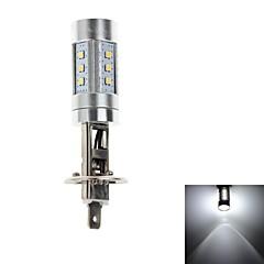 HJ H1 15W 600lm 6000-6500K 15 * SMD LEDs Lâmpada para farol do carro / luz de nevoeiro luz branca (12-24V)