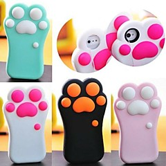 3D Cartoon Foot  Pattern  Silicone Rubber Case for iPhone 5/5S (Assorted Colors)