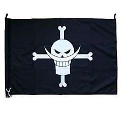 Cosplay Accessories Inspired by One Piece Cosplay Anime Cosplay Accessories Flag Black Terylene Male