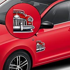 Red Veteran Car Pattern Adesivos Decorativos