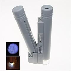 led portátil iluminado 80x microscopio con marca de escala (2 x AA)