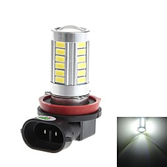 HJ  H8 8W 800lm 6000-6500K 33*SMD 5730  Bulb for Car Fog Light (DC 12-24V)