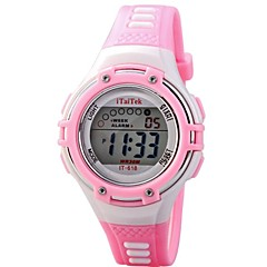 Children Multifunction LED Digital Sports PU Band Wrist Watch 30m Waterproof (Assorted Colors)