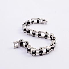 Fashion Men's Titanium Steel Motorcycle Chain Bracelets