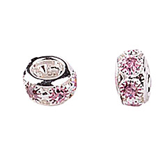 Pink Rhinestone DIY Beads for Bracelet & Necklace