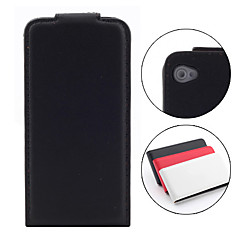 Classic Flip PU Leather Case for iPhone 4 and 4S (Black)