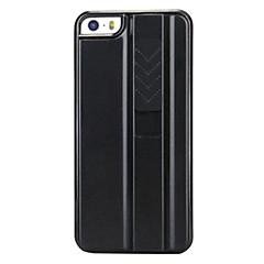 Cigarette Novelty recargables encendedor de plástico duro caso para iPhone Diseño Negro 5/5S