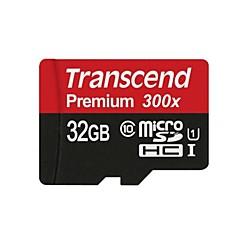 transcend 32GB Tarjeta TF tarjeta Micro SD tarjeta de memoria UHS-I U1 Clase 10 Premium 300X
