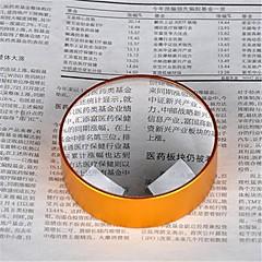 Kağıt ve belgeyi basmak için altın 5x 75mm metal el yakın çekim büyüteç