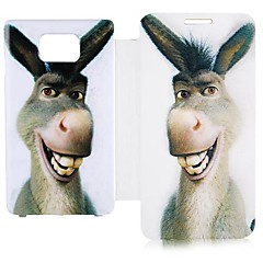 Cartoon Donkey Leather Full Body Case for Samsung Galaxy S2 I9100