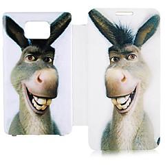 Cartoon Donkey Δερμάτινη Θήκη Full Body για Samsung Galaxy S2 I9100