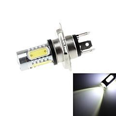 H4 7.5W 700lm 6500K 5 x COB LED 700lm 6500K White Light LED Car Ajovalojen (DC10 ~ 30V)