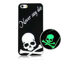 Cross Bones Pattern Fluorescence after Sunniness Hard Back Case for iPhone 4/4S