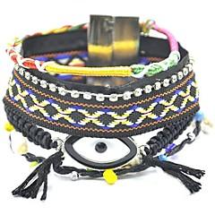 Z&X®  Fashion Eyes Woven Alloy Buckle Hipanema Bracelet