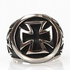 Z&X®  Men's Personality Cross Titanium Steel Ring
