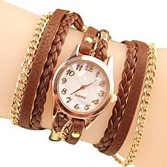 Dámské módní styl Rose Gold Chain kůže kapela Náramkové hodinky (různé barvy)