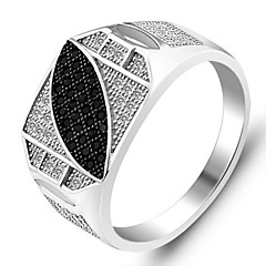 Genuine 925 Fine Jewelry Engagement Charms Cool Designer Micro Inlay Sterling Silver Men Ring