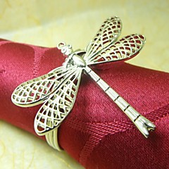 Dragonfly Napkin Ring, Metallo, 4cm, set di 12,