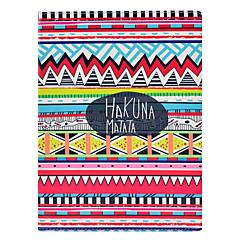 아이 패드 2/3/4를위한 대를 가진 부족 카펫 하쿠나 마타타 패턴 PU 가죽 가득 차있는 몸 케이스