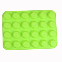 Silicone 24 Holes Muffin Cups Chocolate Mold,34x24.5x2cm
