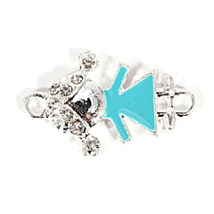 Alloy Lovely Girl DIY Charms Pendants for Bracelet & Necklace