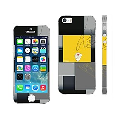 aikusu® mixte conception de la couleur de la couverture autocollant de téléphone portable pour iphone 5 / 5s