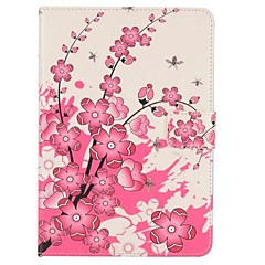 rosa flor de durazno del caso del tirón folio magnético para Mini iPad 3, iPad Mini 2, mini ipad