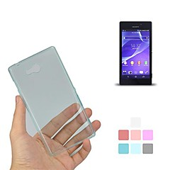 Angibabe 0.45mm Clear Gel TPU Flex Slim Soft Case for Sony Xperia M2(S50h)