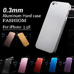 아이폰5/5S/5G용 0.3mm 얇은 알루미늄 마감처리된 하드 케이스 (다양한 색상)