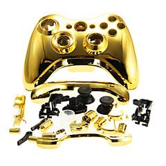 Behuizing case cover voor xbox 360 draadloze controller gouden