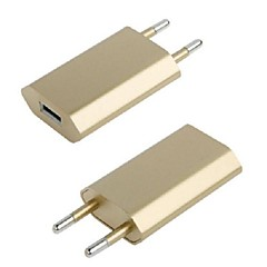 Universal Golden EU Plug USB Charger Adapter for iPhone 6 iPhone 6 Plus