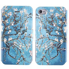 The Little Flower Design PU Full Body Case with Card Slot for iPhone 4/4S