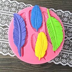 Four Long Leaves Bake Fondant cake mold,L9cm*W9.2cm*H1cm
