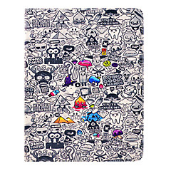 Spesial Cartoon Pattern PU Leather Full Body sak med stativ for iPad 2/3/4
