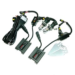 12V 35W H4-3 4300K HID Xenon Lamp Conversion Kit Set With Mounting Bracket (Black Slim Ballast)