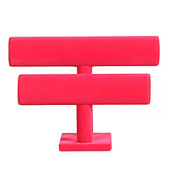 Classic Two Floors Bracelet Stand Multicolor Flannelette Jewelry Displays(1 Pc)(Black,Rose)