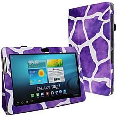 New Leopard Print PU Leather Case Full Body com alça e etiqueta para Samsung Galaxy Tab 2 P5100