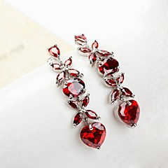 Drop Earrings Heart,Jewelry 2pcs Transparent / Red / Purple / Champagne Crystal Wedding / Party / Daily / Casual