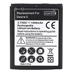 1500mAh uppladdningsbart ersätter Li-Ion batteri för HTC Desire C