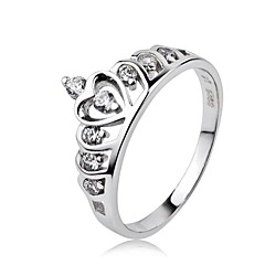 Women's S925 Sterling Silver Crown Finger Ring