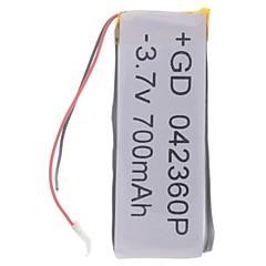 3.7V 700mAh Lithium Polymer Bateria para celulares MP3 MP4 (4 * 23 * 60)