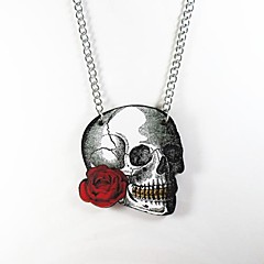 Skull Pattern Wood Necklace Christmas Gifts
